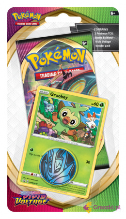 Pokemon TCG: Sword & Shield - Vivid Voltage - Checklane Blister - Grookey