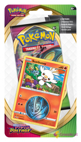 Pokemon TCG: Sword & Shield - Vivid Voltage - Checklane Blister - Scorbunny