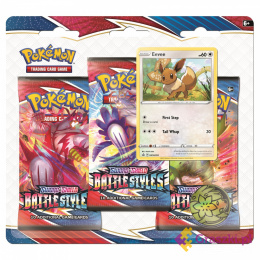 Pokemon TCG: Battle Styles - 3-pack Blister - Eevee